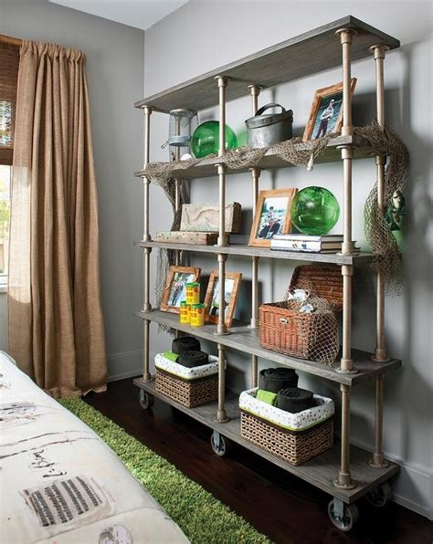 industrial bookcase cottage boy s room