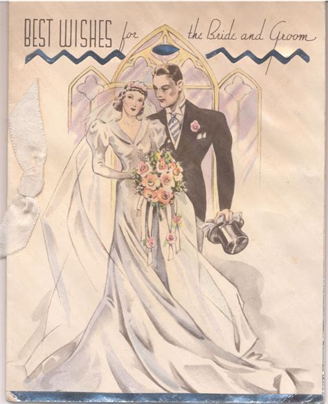Best wishes for the Bride & Groom. #vintage #1930s 40s #