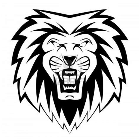 roaring lion tribal tattoo roaring black and white clipart panda free