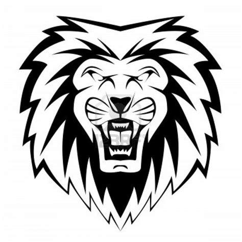 roaring lion tribal tattoo roaring black and white clipart panda free