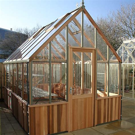 Half Shed Half Greenhouse by Alton Cheltenham Half Boarded Greenhouse
