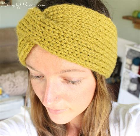 knitted turban pattern free turban style knit headband simplymaggie