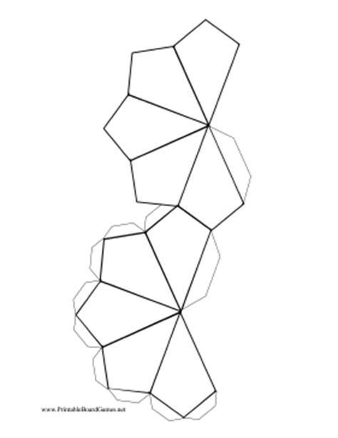 printable 10 sided dice template printable blank 10 sided die