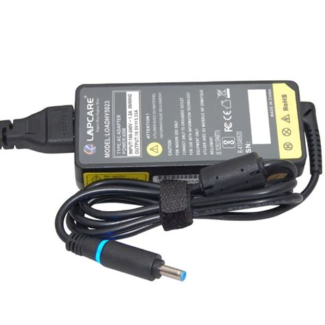 Adaptor Hp 19 5v 3 33a For Hp Envy lapcare adapter for hp 19 5v 3 33a 65w with 4 5mm lapcare