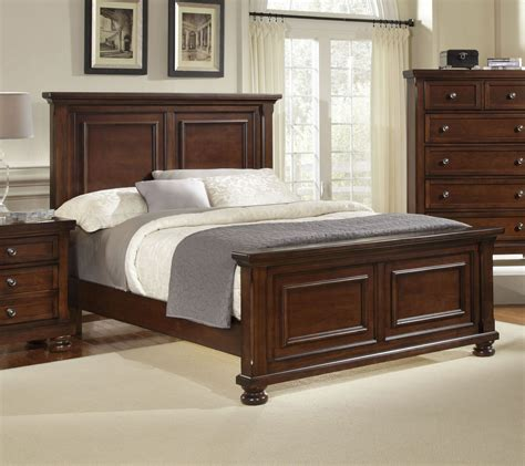 Bassett Furniture Vaughan Bassett Furniture Bed Buy Reflections Cherry