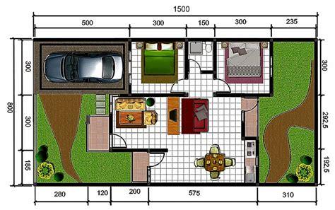 cara membuat layout yang baik denah rumah gallery taman minimalis