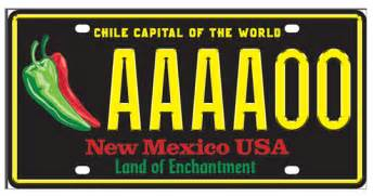 New Mexico Vanity Plates by New Mexico S Chile License Plate Design Revealed Krqe