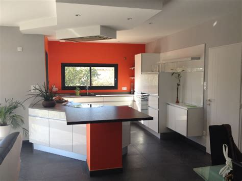 Charmant Modele De Cuisine Blanche #5: cuisine-blanche-orange-toulouse.jpg