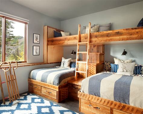 blue rustic bedroom rustic kids bedrooms 20 creative cozy design ideas