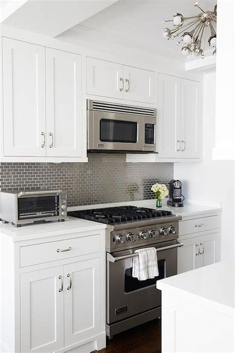 brick tile backsplash kitchen kitchen with gray mini brick tile backsplash