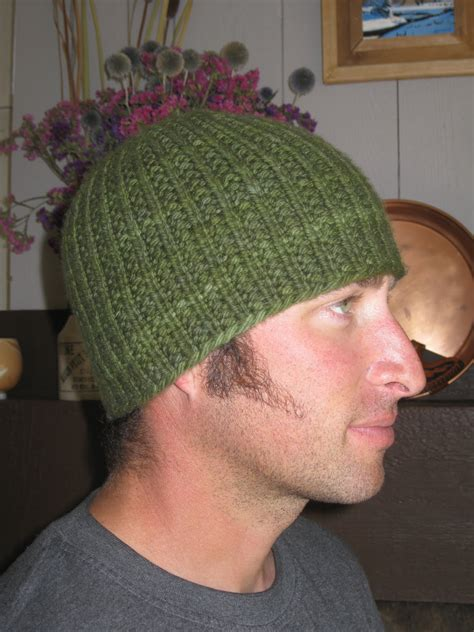 mens knit hat pattern knit alone together hat here