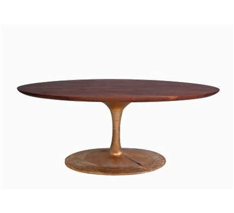 walnut bronze and acid etched copper dining table by mesas copper and pedestal on pinterest