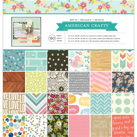 Papercraft Products - american crafts best of paper pad jo