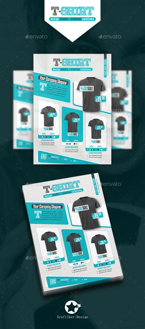 T Shirt Flyer Templates By Grafilker Graphicriver T Shirt Ad Template