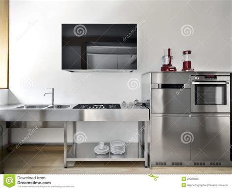 modern kitchen high technology royalty free stock photo
