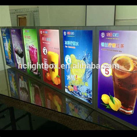 Produk Terbaru Panel Neon magnet frame light boxes led menu boards magnetic drink