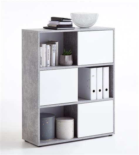 regal grau regal in grau beton t 252 ren in hochglanz wei 223 kaufen bei