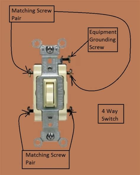 identify 3 and 4 way switches wiring diagram schemes