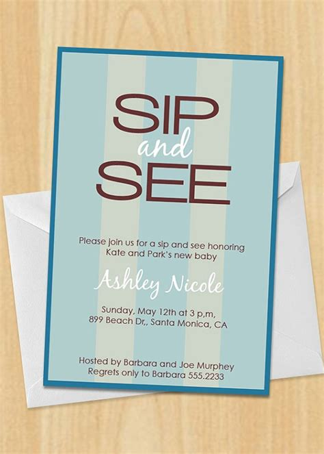 25 best sip and see images on pinterest sip and see baby party and shower invitation