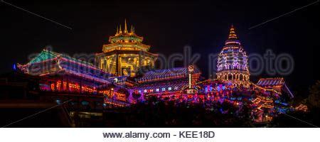 penang during new year pagoda kek lok si temple penang malaysia stock photo