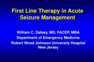 Do Md Mba An Edge In Hospital Administration by Ppt Line Therapy In Acute Seizure Management