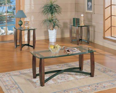clear glass top modern pc coffee table set wmetal  supports