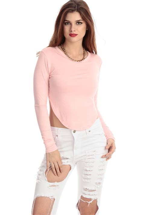 8 Top Dresses For Your by Light Pink Asymmetrical Sleeve Crop Top Cicihot Top