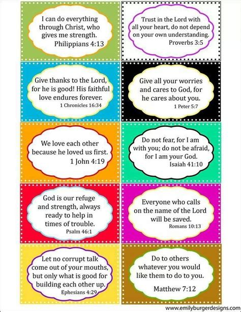 bible verse memory card template cut out bible verses for decorating lockers