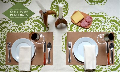 How To Make Paper Placemats - 22 diy placemats for beautiful dining setting home