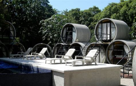 tiny house hotel near me recycled tubes turned to tiny house hotel in tepoztlan mexico