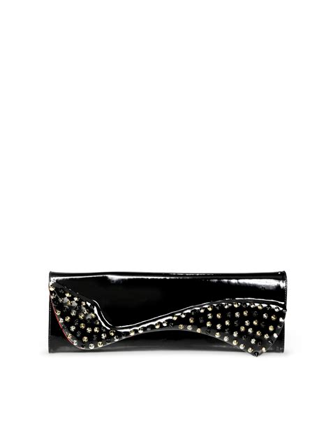 Christian Louboutin Alpaca Clutch by Lyst Christian Louboutin Pigalle Studded Patent Leather