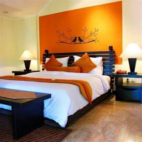 schlafzimmer orange farbideen schlafzimmer einflu 223 reiche farben und dekoration