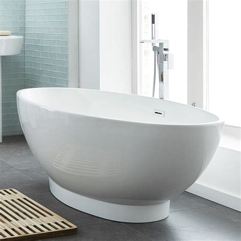 oval bathtub 1680 x 800mm oval double ended freestanding bath