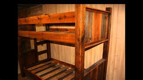 rustic bunk bed plans plans diy   twin