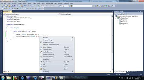 layout menu visual studio 2010 c can t find quot resolve quot in context menu of visual studio