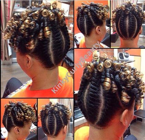 Twist And Curls Hairstyles by Flat Twist W Spiral Curl Updo Wedding Ideas
