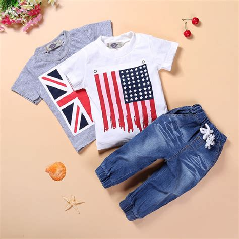 Ccs Baby Set ccs203 2016 summer clothes set boys brithish american