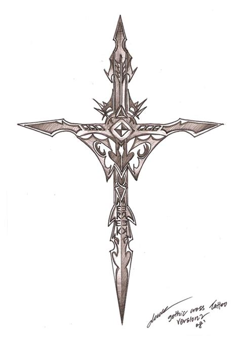 drawn dagger crucifix pencil and in color drawn dagger