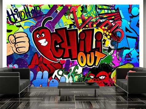 chill out graffiti wallpaper dětsk 225 tapeta graffiti chili out stapety cz