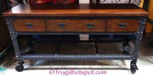 Kitchen Island With Casters Costco Whalen Industrial Metal Amp Wood Workbench 299 99
