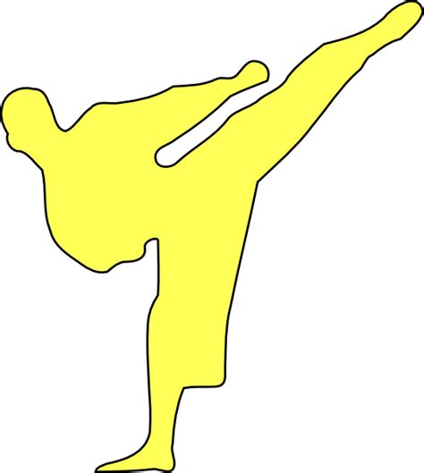 karate clipart yellow karate kicker clip at clker vector clip