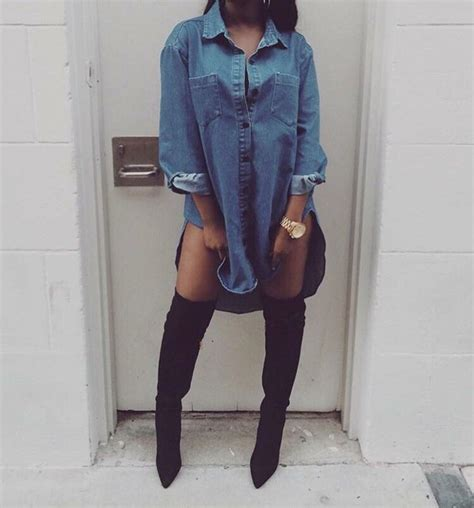 jean dress with boots shirt jacket blue blue dress denim jacket denim top