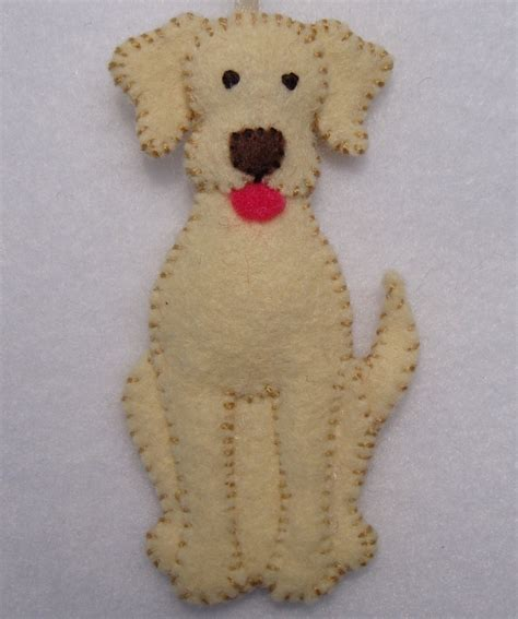 3 quot felt dog ornament 20 00 via etsy phabulous felt