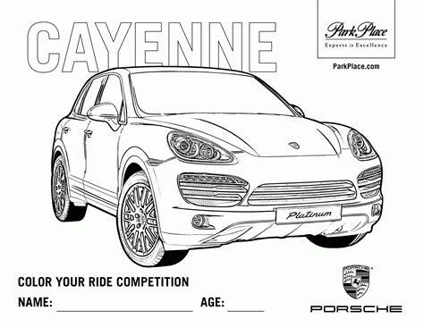 Coloring Pages Porsche Coloring Home Coloriage De Porsche Cayenne L