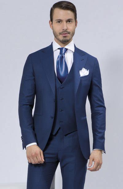 gambar model baju jas pria untuk pernikahan masa kini 2015 warna biru jpg 400 215 615 ternos
