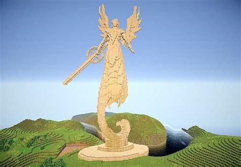 Wall Blueprints Angel Statue Homm5 Minecraft Project