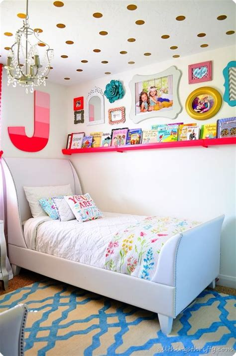 Gold And Coral Bedroom by Coral And Gold Bright Girls Shared Bedroom Chic