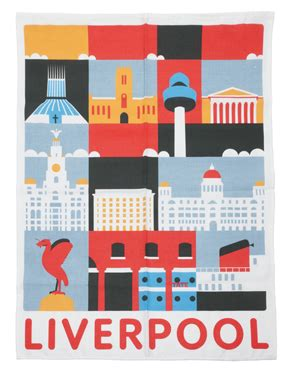 poster design liverpool liverpool tea towel by andy tuohy for the tate retro to go