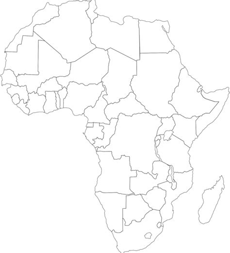 africa map vector png free vector graphic africa map political
