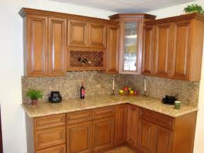 Wooden Kitchen Cabinet brown wooden curving kitchen cabinet with cream marble